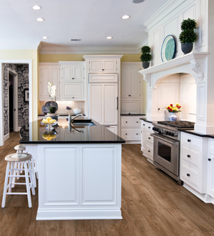 white kitchen cabinets in vernon
